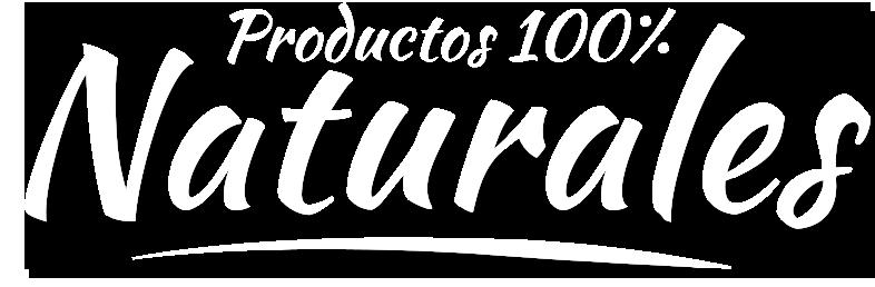 Productos 100% naturales